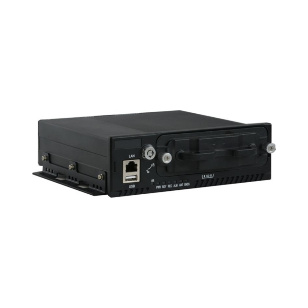 4- Port PoE Mobile NVR Recorder with 4G LTE access for Vehicle Surveillance