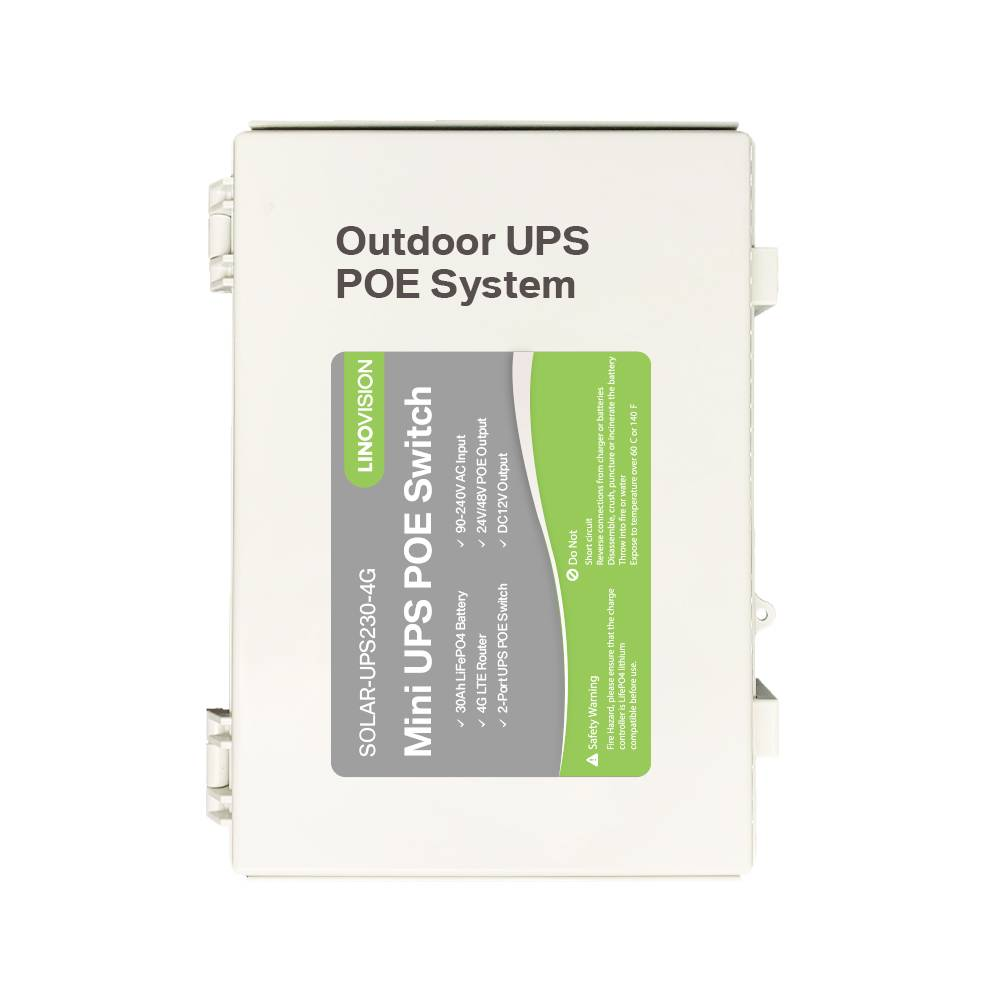 Outdoor UPS POE Power for Multiple Cameras System