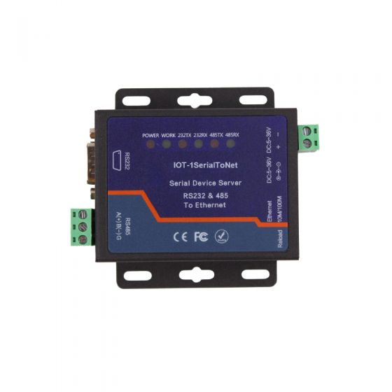RS232 & RS485 Serial Port to Ethernet Converter