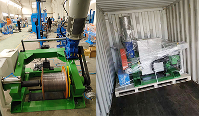 Dispatch of 1000mm Rewinding Line and Accessories Parts for Wire Extrusion Line to Thailand