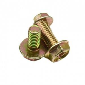 Custom Inner cross Cross recessed hex head flange bolt