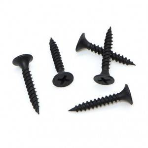 factory low price Din Metal Fine Thread Bugle Head Zinc Black Gypsum Board Collated Drywall Screws