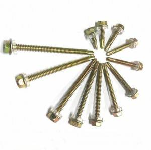 Direct Sales High Quality Hex Head Flange Self drilling Screws