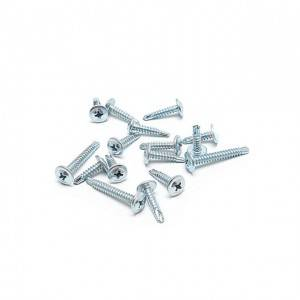 Factory Direct Sales Zinc Plated Truss Head Self Drilling Screws