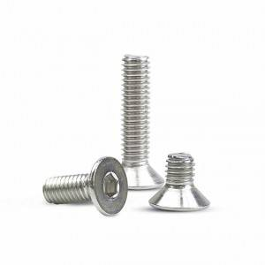 Countersunk Bolt(ALLEN KEY FACED) Hex socket flat round head bolt