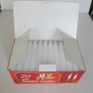 China wholesale White Crystal Taper Candles -