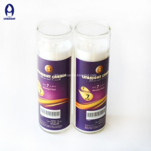 Factory Price Purple Mosaic Glass Candle Holder -