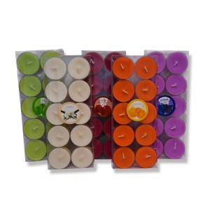 Festival decorative scented and colored tealight candles
