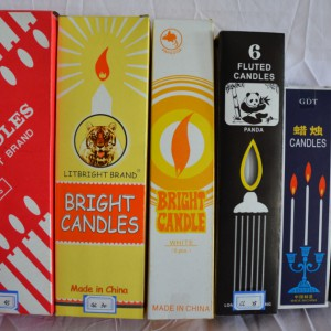 Hot sale Factory Colored Flame Taper Candle -