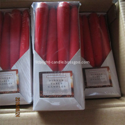 OEM/ODM Factory Red Glitter Candles -