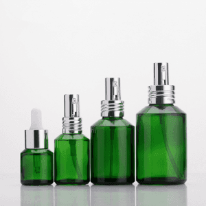 glass slant shape bottle for essential oil with dropper