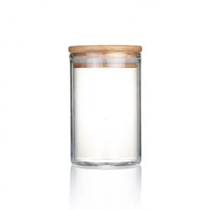 65mm diameter Borosilicate Glass Jars with Bamboo Silicone Sealed Lid