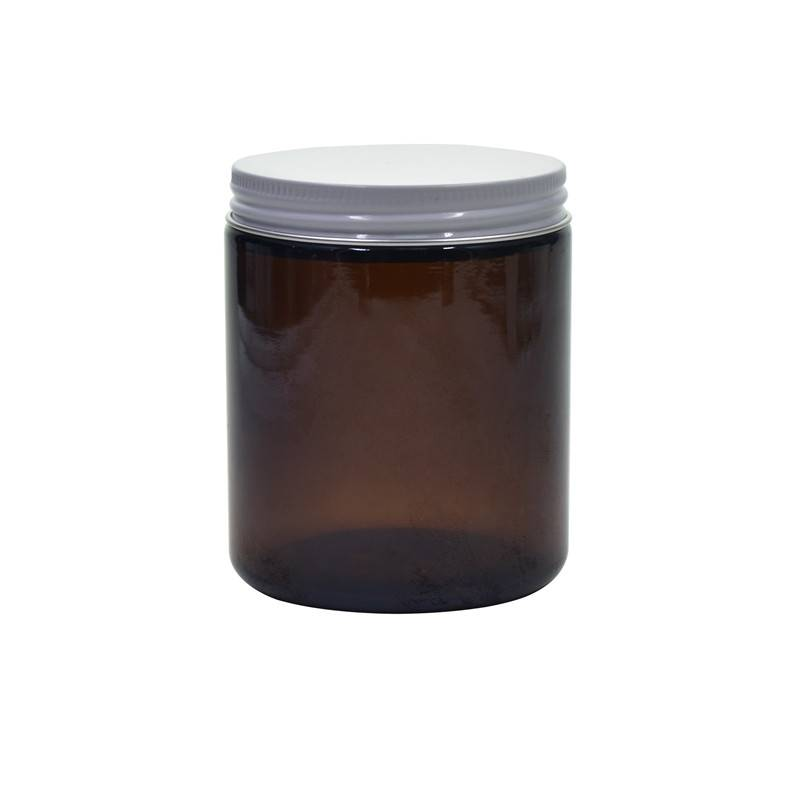250ml glass amber jar 8oz with alimunum lid Featured Image