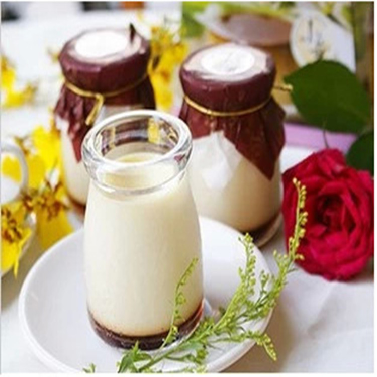 Factory direct 100ML glass pudding bottle yogurt  pudding cup high white material can be baked at high temperature