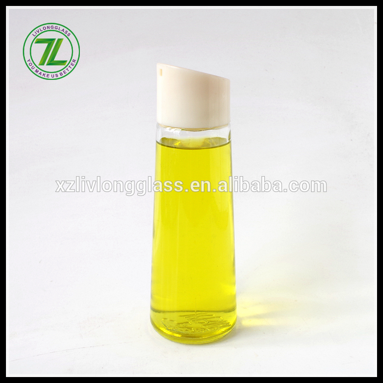 wholesale food grade glass material 12oz 350ml cooking oil bottle with pourer