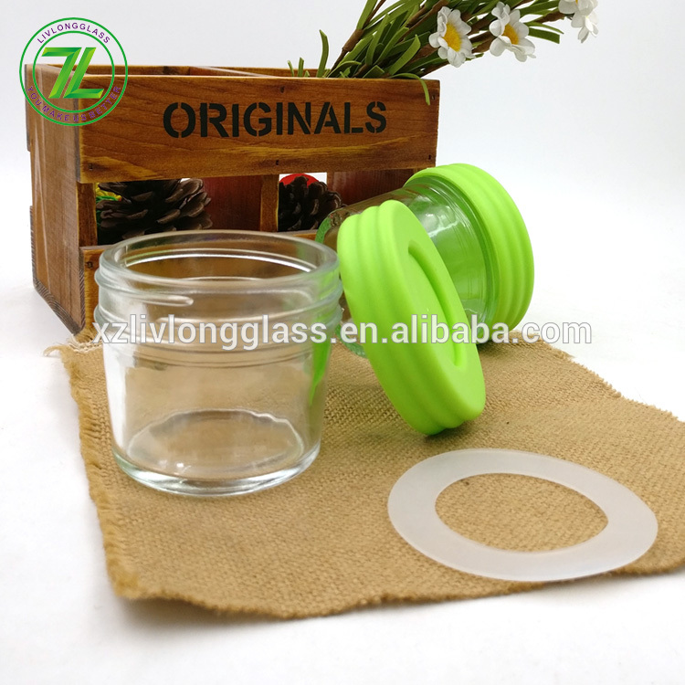 wholesale 2oz homemade baby food bottle 60ml wide mouth mason glass jar with plastic screw lids