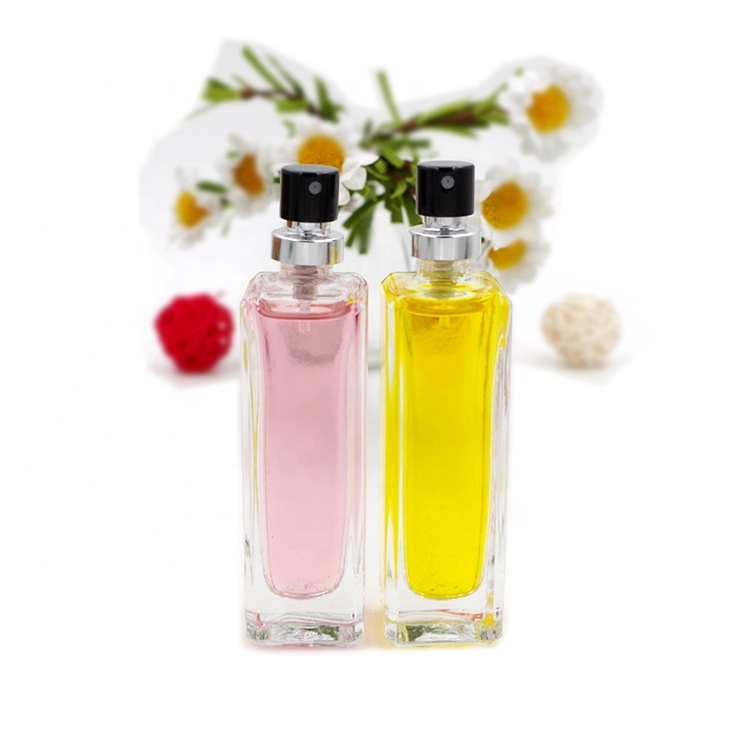 30ml Fancy Clear Square Pump Spray Perfume Glass Bottles