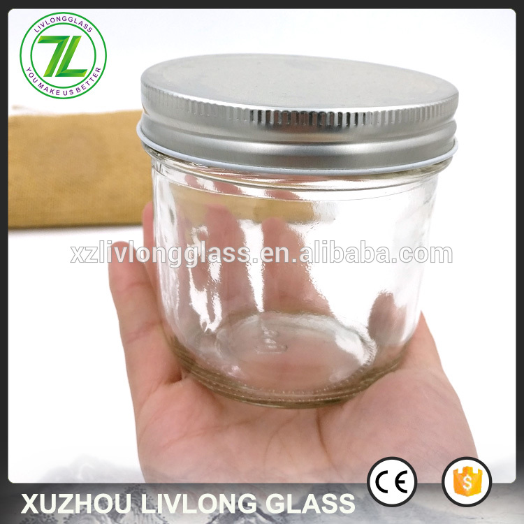 airtight foods bottles 200ml 8oz wide mouth glass jars with lids