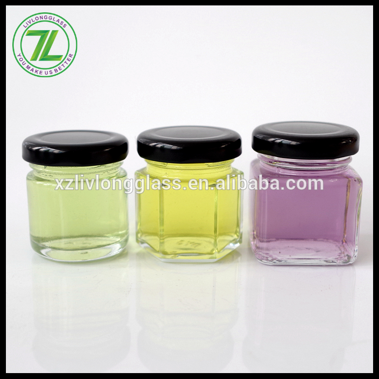 1 oz 1.8 oz glass jar mini jam glass jars with metal lid