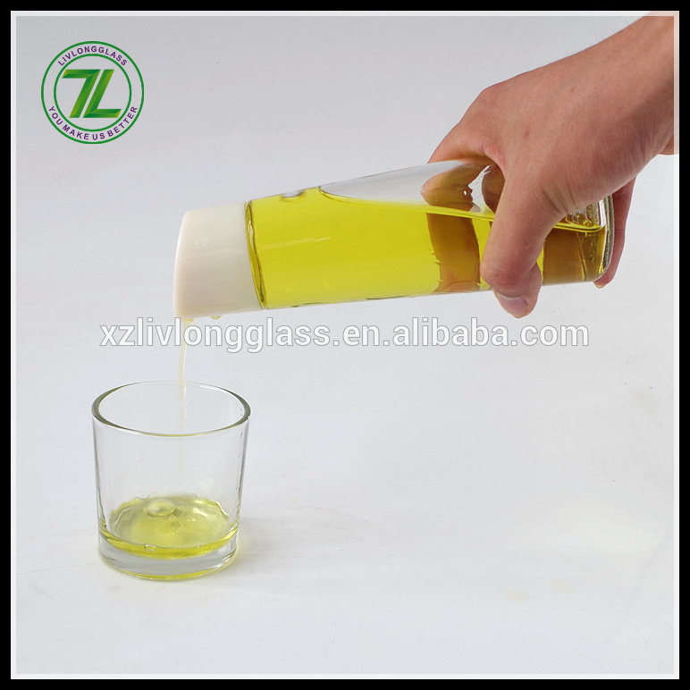12oz 350ml Clear Olive Oil Glass Bottle with Pourer