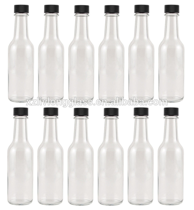 150ml Clear Chili Sauce Glass Bottle with Plastic Cap Featured Image