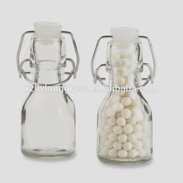 Discount Price Fancy Glass Bottles - Mini Glass Favor Bottle with Swing Top – LIVLONG