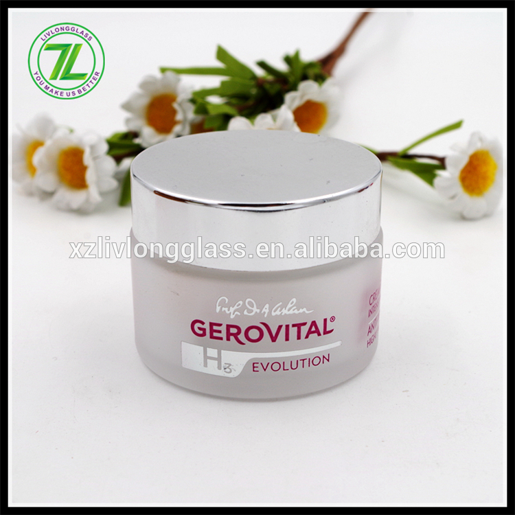 50ml Glass Frosted Face Cream Cosmetic Jar