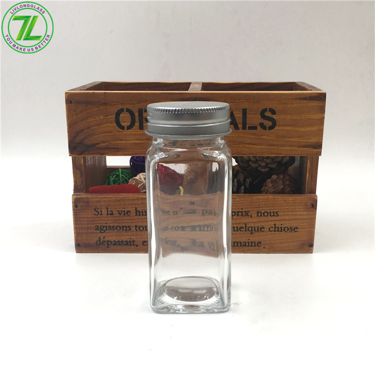 4oz Glass Spice Jar For Pepper Salt With Screw Lid And Shaker Featured Image