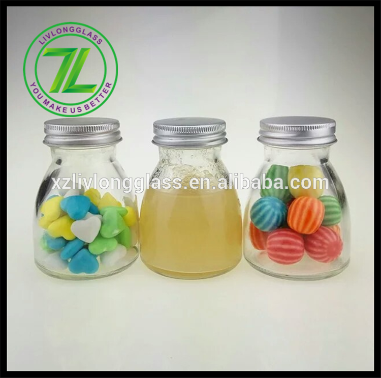 Hot-selling Glass Jam Jars - 4oz clear high quality hotsale candy jar with alu cap – LIVLONG