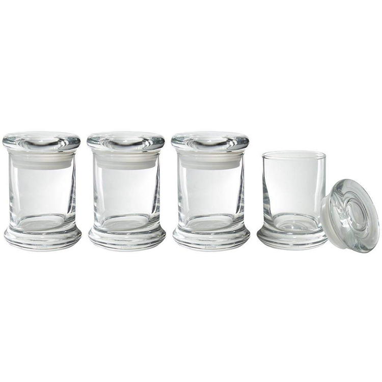 hot sale 8 oz Clear Glass Candle Jars with Airtight Pop Top Lids