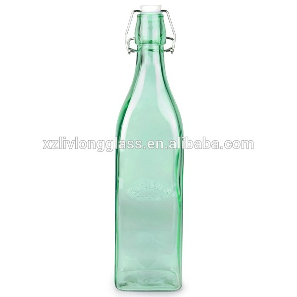 Glass Fruit Beverage Beer Liquor 32 oz Flask Airtight Seal Swing Top Bottles
