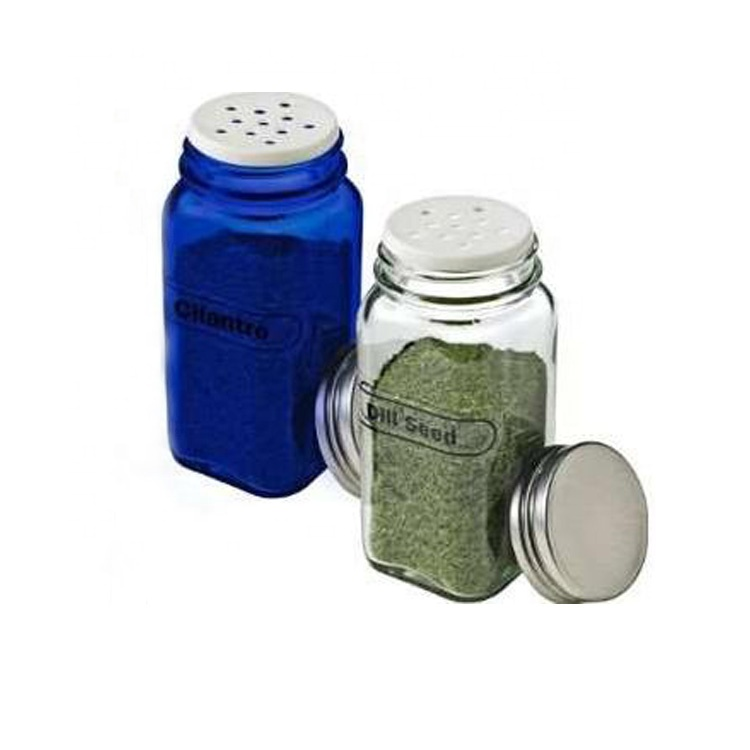 hot sale 120ml square herbs bottle 4oz empty glass spice jars with shaker lids Featured Image