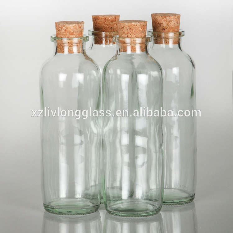 High reputation Glass Water Bottles - 500ml Clear Cooking Oil Glass Bottle with Cork Stopper – LIVLONG