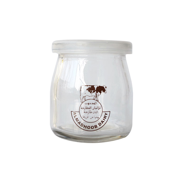 wholesale 200ml glass pudding jar 6oz with lid