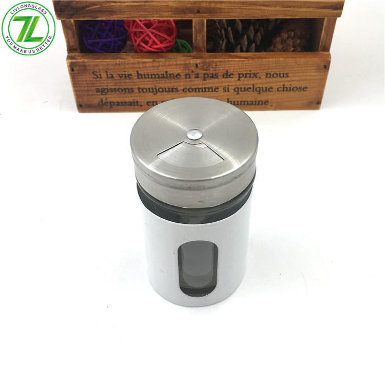 60ml 2oz Glass Spice Salt Pepper Jar With Metal Screw Cap And Shaker