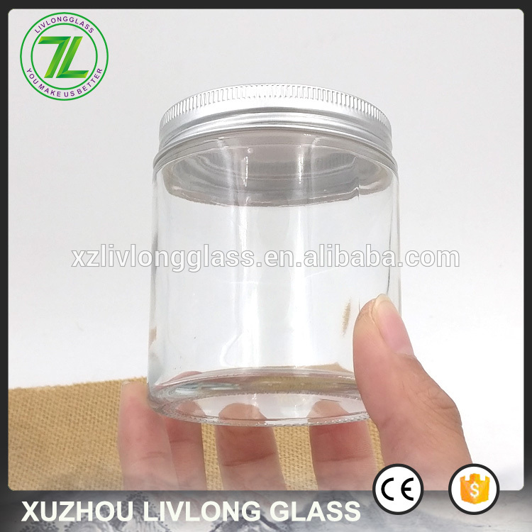 wholesale 120ml straight sided bottle 4oz food glass jar with aluminum lids