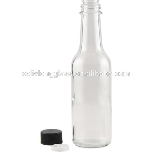 150ml Clear Chili Sauce Glass Bottle with Plastic Cap