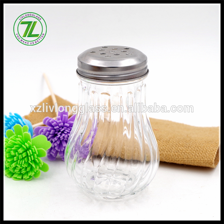 new design 210ml dressing jar 7oz spices packaging glass bottle with stainless cap Featured Image