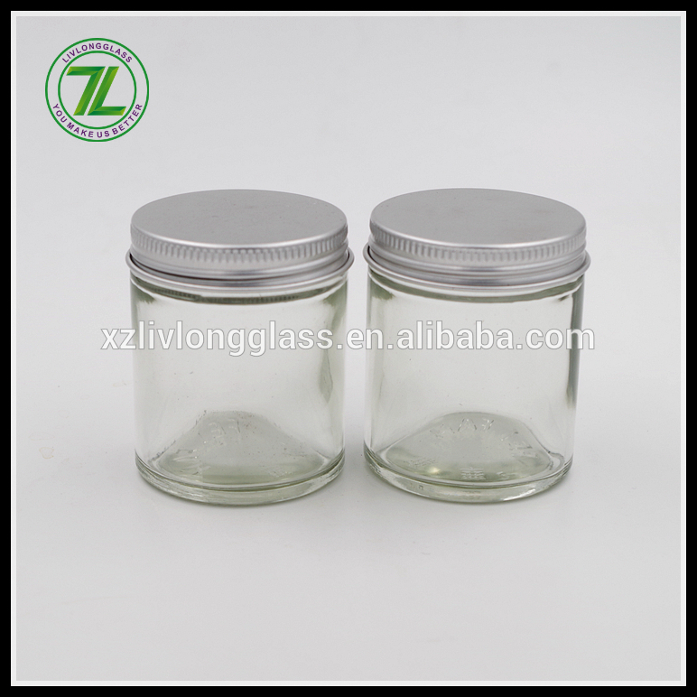 3oz glass pharmaceutical ointment jar with aluminum lid