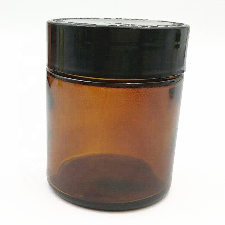 4 oz 120 ml straight sided round CBD THC glass jar with childproof lid