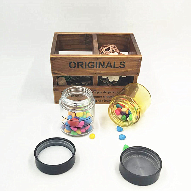 cheaper 4oz CBD resistant glass jar with wood grain child proof lid for cosmetic packaging or herbs weeds 120ml in stock