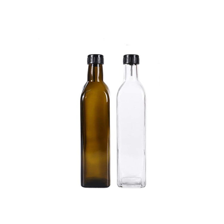 Newly ArrivalFrosted Glass Bottle - square olive oil glass bottle – LIVLONG