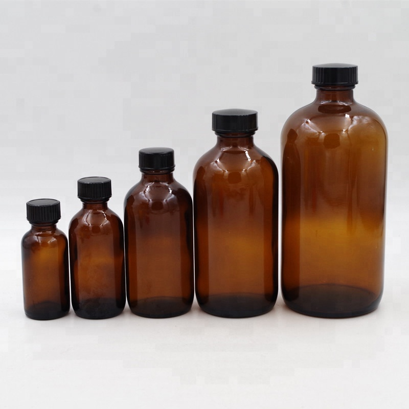 wholesale 16oz boston round bottle 480ml amber glass bottle with bakelite cap 副本
