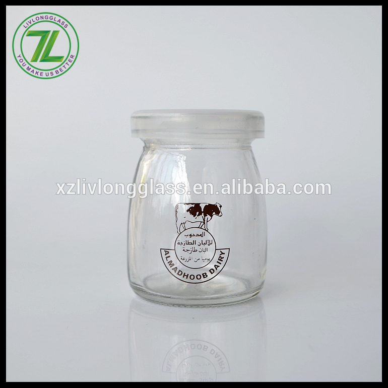 100ml glass jelly jar glass milk jar glass pudding jar with PE lid Featured Image