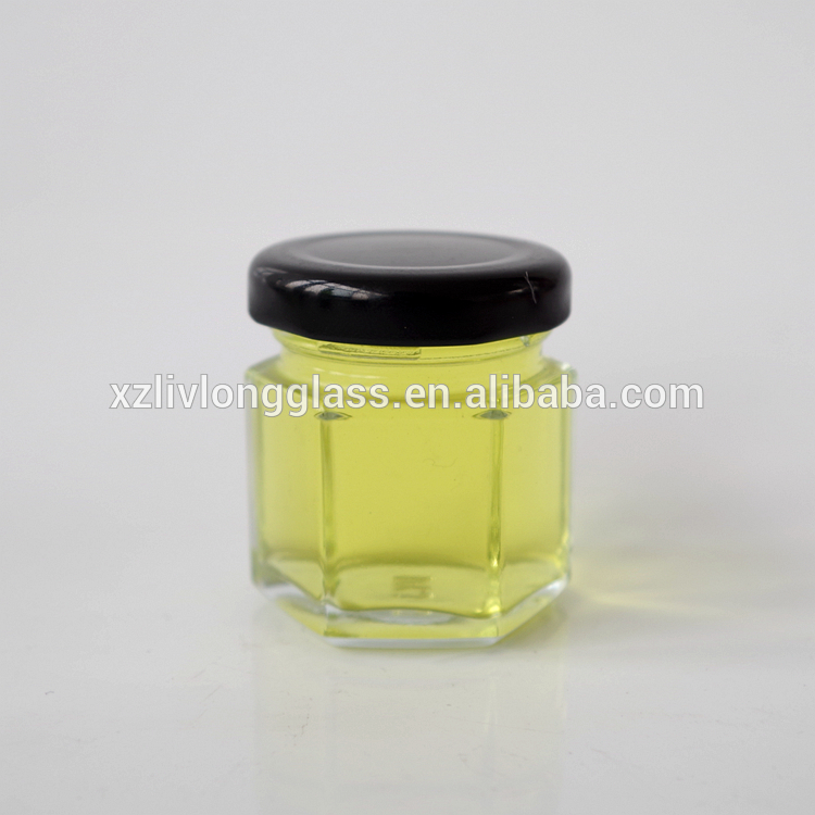 30ml mini hexagon glass jar 1 oz honey jars glass hexagonal