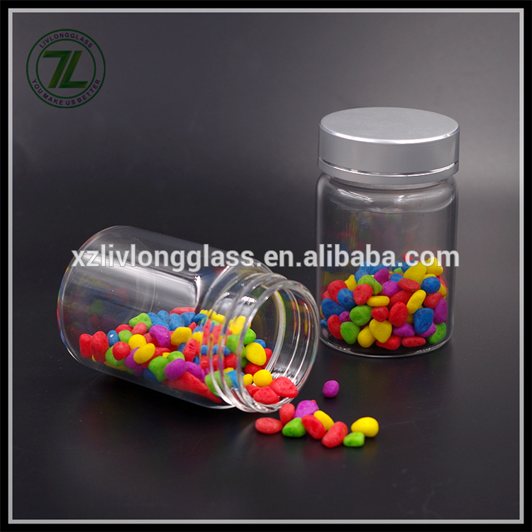 80ml mini borosilicate straight sided glass jar with alu cap