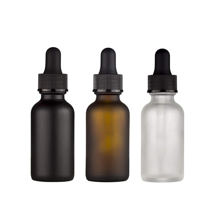 Amber 4oz Glass Bottles with glass dropper for essential oil
