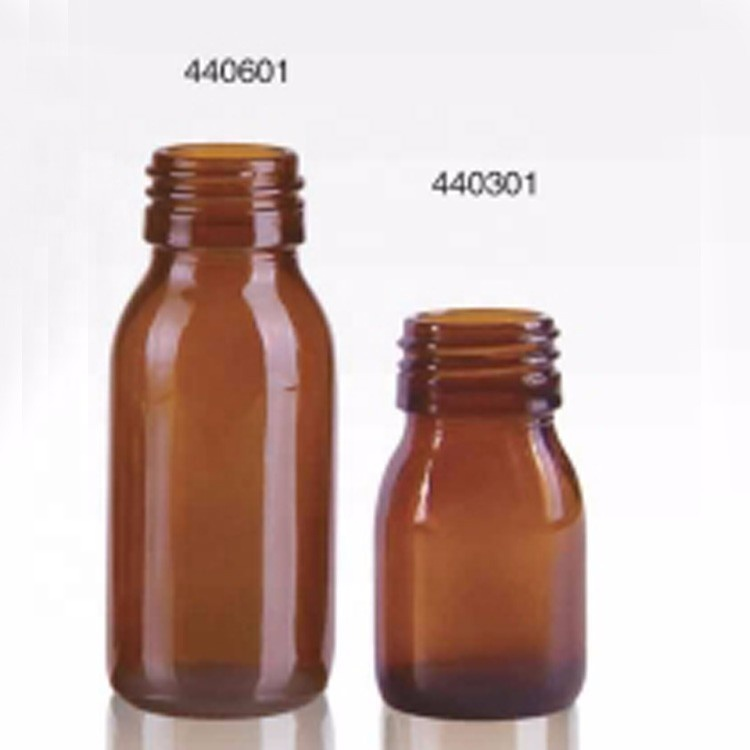 30ml Germany farm chemical pesticide packaging 60ml amber oral liquid solution glass bottle with aluminum hermetic screw cap