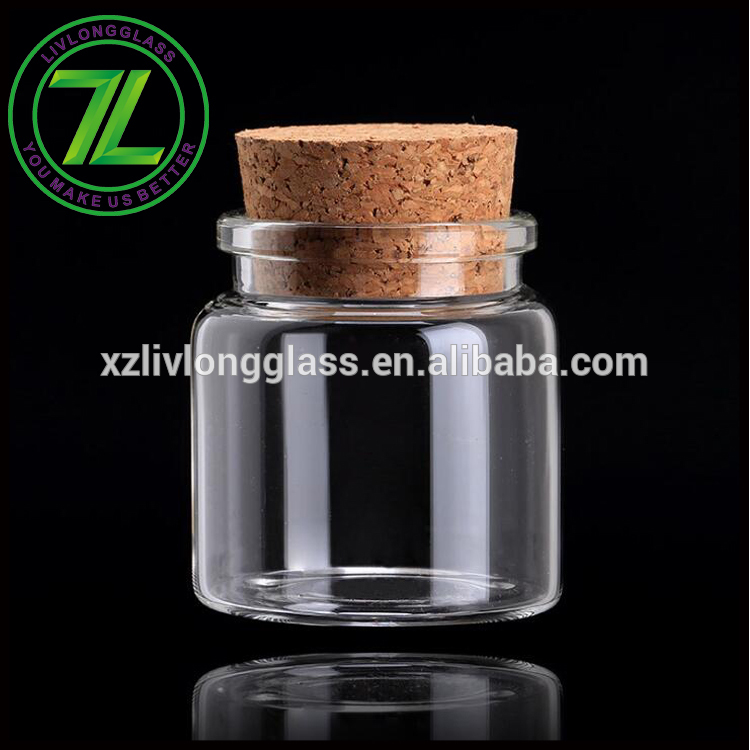 mini storage packaging 1.5oz 50ml glass spice jar with cork