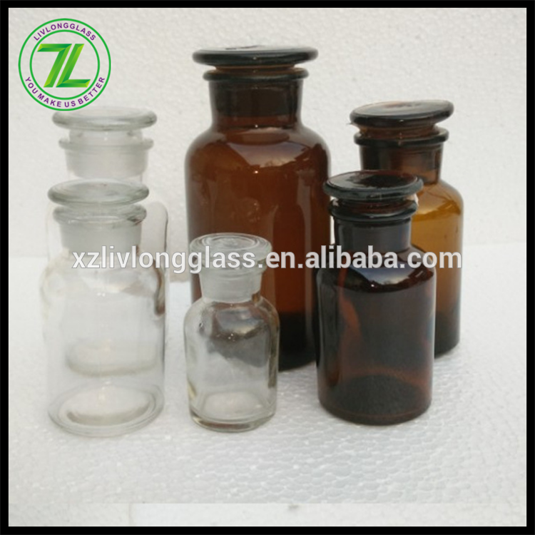 Glass Reagent Jars Clear and Amber Colored